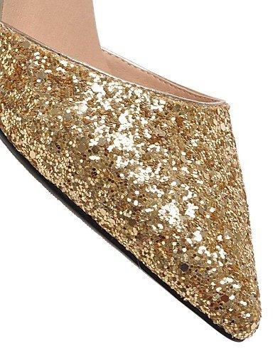 WSS 2016 Chaussures Femme-Extérieure / Bureau & Travail / Décontracté-Noir / Blanc / Argent / Or-Talon Aiguille-Talons-Chaussures à Talons- black-us8 / eu39 / uk6 / cn39
