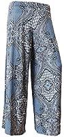 Ladies Women Multicolor Leopard Aztec Print Straight Flared Wide Leg Hareem Palazzo Floral Trousers Pants Plus Size XL XXL XXXL 8 10 12 14 16 18 20 22 24 26