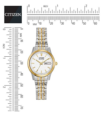 Citizen Women's Eco-Drive Flexible Band Two-Tone Watch #EW3154-90A