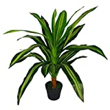 Leaf LEAF-7049 Plantes artificielles 90 cm Vert foncé, 90cm Dark Green