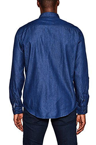 edc by ESPRIT Herren Jeans Hemd Blau (Blue Dark Wash 901)