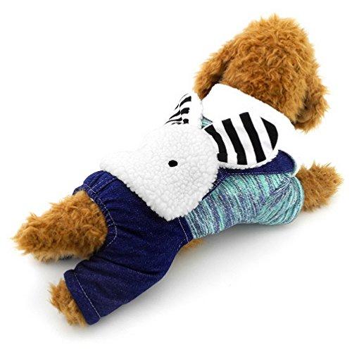 unny Kapuzenanorak mit Baumwollfutter vierbeinigen Jumpsuits Hundemantel Hunde Kaschmir, für kleine Hunde/Katzen (dieser Style Run klein, wählen Bitte eine Größe größer) ()
