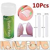 zhuotop 100eingewachsene Fußnägel Glätten Clip Gebogen Bandage Nägel Dick Paronychie Korrektur Werkzeug 3mm/4