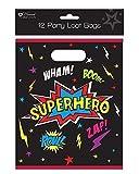 Pack of 12 Childrens Birthday Party Plastic Loot Bags - Boys Superhero