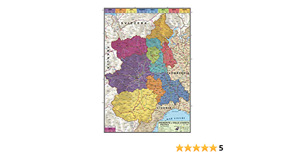 Cartina Geografica Piemonte Politica.Carta Geografica Murale Regionale Piemonte E Valle D Aosta 100x140 Bifacciale Fisica E Politica Amazon It Cancelleria E Prodotti Per Ufficio