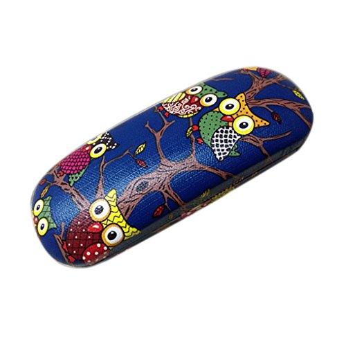 Arichtop Hibou Motif animal lunettes Boîte Case PU cuir Lunettes Box Folding Hard Case Lunettes de protection Box