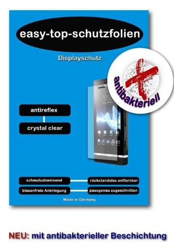 ANTIREFLEX- antibakteriell Display Schutz Folie entspiegelt passend für LG Electronics U990 Viewty