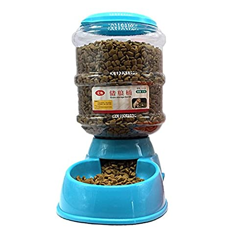 Garyesh Automatic Pet Feeder for Dogs and Cats (Food Feeder - Blue)