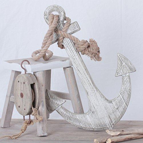 ige gerillt Deko Anker Holz Anker XXL 60 cm (Anker Dekoration)