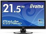 IIYAMA E2278HD-GB1 21.5 inch Widescreen 1080p Full HD LED Monitor (5ms, VGA/DVI)