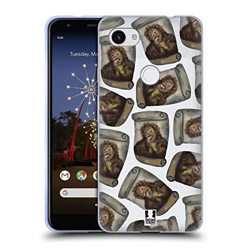 Head Case Designs Kartoffel Chimp Lustige Affen Soft Gel Huelle kompatibel mit Google Pixel 3a XL