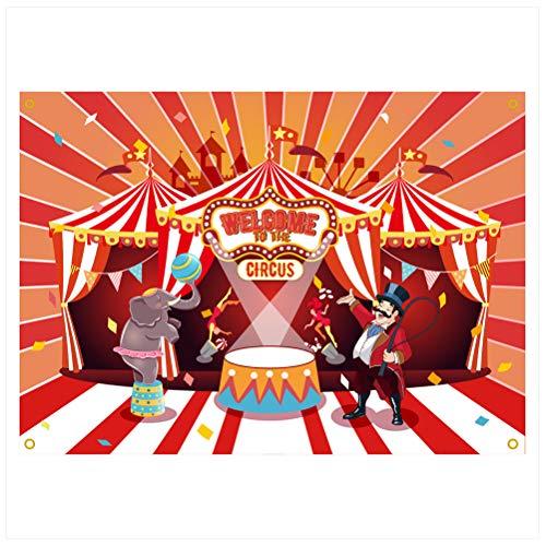 TOYANDONA Karneval Zirkus Fotografie Kulissen Performance Hintergrund Geburtstag Banner Foto Hintergrund Kindergeburtstag Party Photobooth Requisiten