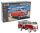 Revell Modellbausatz Auto 1:24 - Volkswagen VW T1 Bulli Samba Bus im Maßstab 1:24