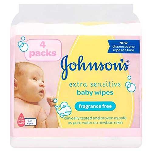 Johnson's Baby Extra Sensitive Wipes 4 x 56 per pack 51 2B49y8Y1tL