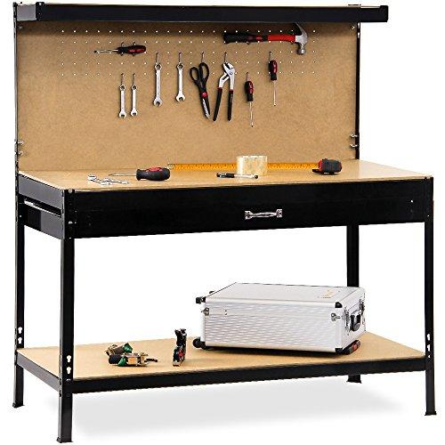 Werkbank Deuba  XXL 150x120x60cm  Lochwand  Profi Ausführung - Werkstatttisch Packtisch Werktisch