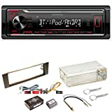 Kenwood KMM-BT204 FLAC Autoradio Bluetooth USB AUX 1-DIN AOA WMA MP3 Einbauset für Audi A3 8P 8PA