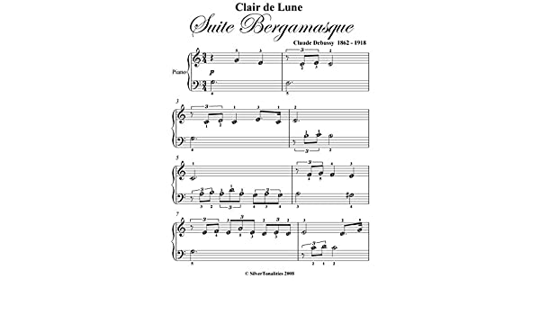 Clair De Lune Suire Bergamasque Beginner Piano Sheet Music Ebook