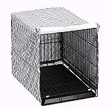 Pethiy Cubierta para Caja de Perro para Gatos de Alambre, se Adapta a la mayoría de Las jaulas de Perro de 36 Pulgadas. Fácil de Poner, Quitar y Ajustar - Solo Funda