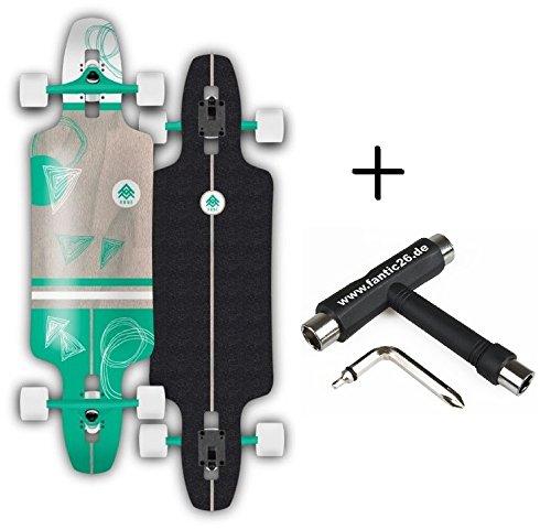 Rune Longboard komplett mit BOLZEN Achsen (Gram 24x96 cm + Fantic26 Skatetool)