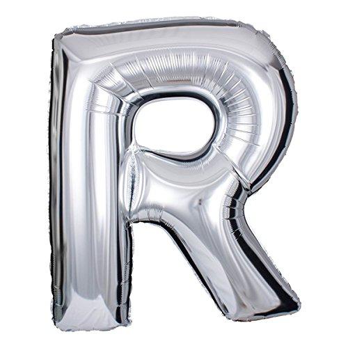 ballonfritz® Ballon Buchstabe R in Silber - XXL 40
