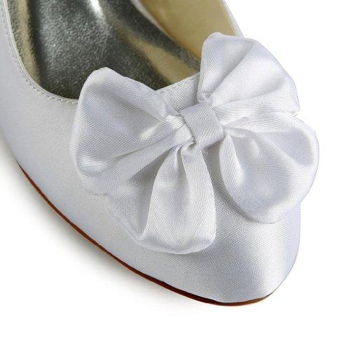 Jia Jia Wedding 0112 Scarpe Sposa Scarpe col tacco donna Bianco