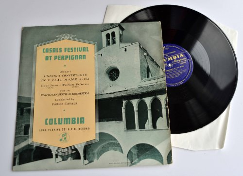 Casals Festival At Perpignan 1951. Columbia 33CX 1089. No stereo equivalent issued.