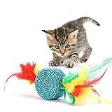 LHY Gatto Giocattoli Palla, colorato Badminton Gatto Giocattolo, Durevole Duro IQ Toys per Pet, Cute Kitty Giocattoli, Giocattolo interattivo e Trattare Palla, 5 Pack,3