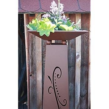 rostikal blumens ule flori in silber mit schale pflanzs ule dekos ule k che haushalt. Black Bedroom Furniture Sets. Home Design Ideas