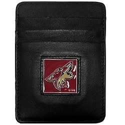 NHL Phoenix Coyotes Genuine Leather Money Clip/Cardholder Wallet