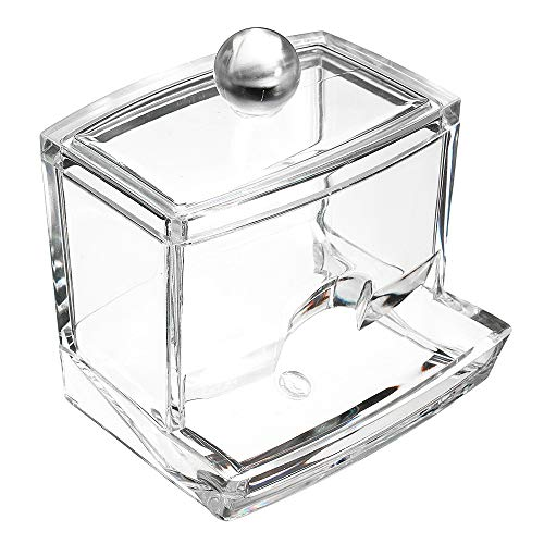 Romote Storage Box Plexiglas Wattebausch Dispenser-Organisator-Behälter-Anzeige - Storage Dispenser