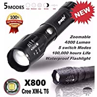 Saingace 5000LM G700 Tactical LED Flashlight X800 Zoom Super Bright Military Light Lamp