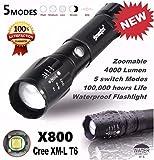 Saingace 5000LM G700 Tactical LED Flashlight X800 Zoom Super Bright Military Light Lamp