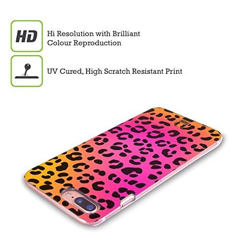 Head Case Designs Giraffa Ciano Stampe Pazze Cover Retro Rigida per Apple iPhone X Leopardo Rosa