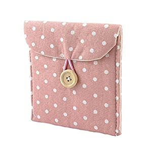 Sanitary towel storage bag Lightweight Lady Linen Sanitary Napkin Towel Pad Small Mini Bags Case Pouch 1PC