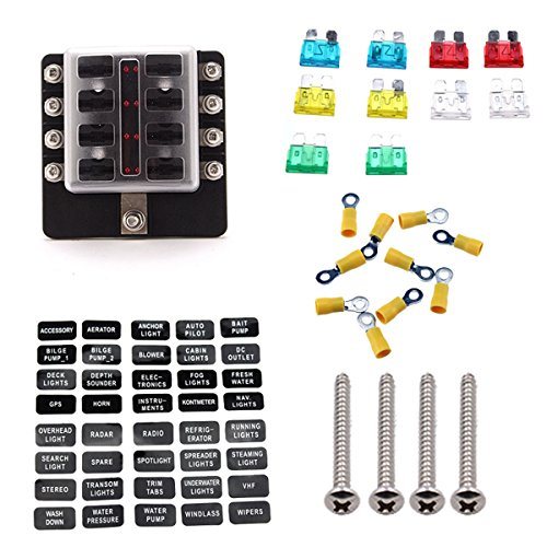 Ambuker Aluminum Metal Push Button Switch Latching Red Led 18mm 12V