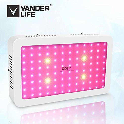 LED Pflanzenlampe, Vander 500 W Led Grow Lampe UV IR Vollspektrum mit Veg & Bloom Dual Kanal für Pflanzen Wachstum Zimmerpflanzen