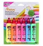 Tulip Néon Pack de 6 Flacons de Couleurs fluorescentes pour Peinture 3D 37 ml