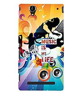 PrintVisa Quotes & Messages Music 3D Hard Polycarbonate Designer Back Case Cover for Sony Xperia T2 Ultra