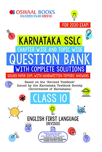 Oswaal Karnataka SSLC Question Bank Class 10 English Ist Language Chapterwise & Topicwise (For March 2020 Exam)