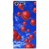 Es regnet Cricketbälle Hartschalenhülle Telefonhülle zum Aufstecken für Sony Xperia XZ Premium