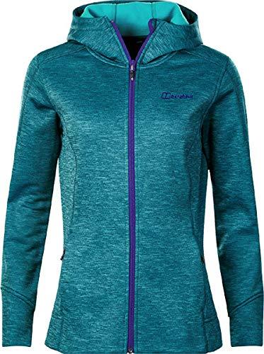 berghaus Kamloops Hooded Fleece Jacket Women Spectrum Blue/Capri Breeze UK 12 = EU 38 -