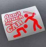 Dont touch my Car NEON ROT Shocker Auto Aufkleber Tuning Stickerbomb Fun Oem