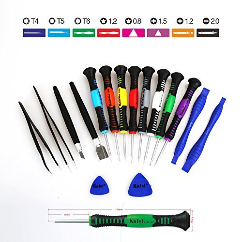 Kaisi 16 piece Precision Screwdriver Set Repair Tool Kit for iPad, iPhone, & Other Devices