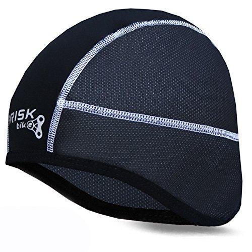 51%2B4JyT18gL - Brisk cycling skull cap under helmet thermal tight fit warm regular size (Black) sports best price Review uk