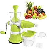 Floraware Plastic Fruit and Vegetable Juicer, Green