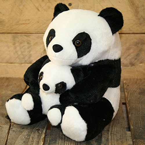Adorable Black And White Panda Doorstop With Baby ~ Decorative Panda Door Stop by Carousel Home - Stopper Bar