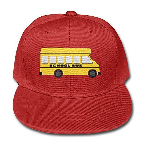 Nifdhkw Enfants Jaune Bus Scolaire Unisexe Plaine Snapback Baseball Hat réglable One Size Design20