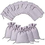 NBEADS 100 Piezas Bolsas de arpillera con cordón Bolsas de Regalo Bolsas de joyería para el Banquete de Boda Festival de Navidad y artesanías de Bricolaje