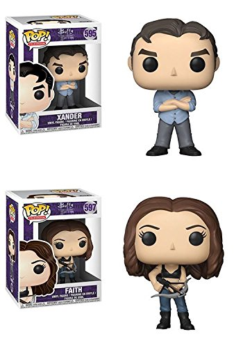 Funko POP Buffy The Vampire Slayer 20th Anniversary Xander Faith Vinyl Figure Set NEW