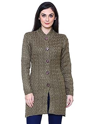 Rebecca Woollen Brown Buttoned Cardigans